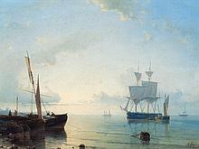Abraham Hulk Senior (1813-1897), Ships in Calm Water, 19th C