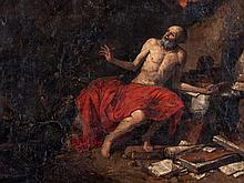 Jusepe de Ribera, Circle of, 'Jerome in the Wilderness', 17th C