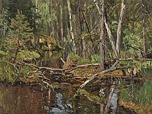 Konstantin Semenovic Vysotskij, Forest Landscape, Oil, c. 1930