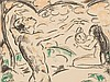 Cuno Amiet, Der entzückte Jüngling, Lithografie, 1915, Cuno Amiet, €400