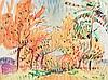 Cuno Amiet, Rote Bäume, Watercolor, 1923, Cuno Amiet, €7,500