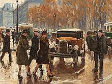 Henry Malfroy, Paris, La Tour Saint Jacques, Early 20th C.