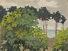 Minna Köhler-Roeber, Forest At Baltic Sea, Oil, c. 1950