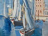 Ismaël de la Serna, Seascape, Oil Painting, 1957, Ismael González
