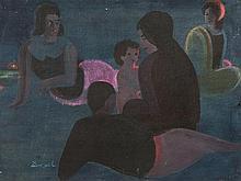 Hans Christof Drexel, Figural Scene, 1st H. of 20th Century