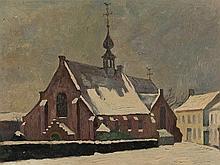 Paul Müller-Kaempff, Wintry Village, Oil, 1937