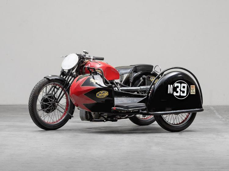 Benelli 500 OHC Sport with Sidecar, Model Year 1937