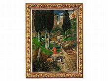 Alexander Frenz (1861-1941), Landscape with Shepherdess, 1904