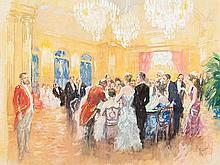 Edward Cucuel, Gouache, Roulette in Monte Carlo, c. 1930