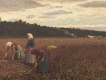 Robert Beielstein (1859-1933), Painting, Potato Harvest, 1910