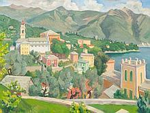 Carl Christoph Hartig (1888-1975), View on Lugano, 1934