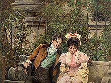 Johann Hamza, 3 Paintings, Acquaintance-Wedding-Baptism, 1885