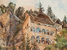 Anton Hlavacek (1842-1926), Watercolor, The Potter's House 1903