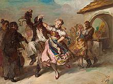 Andor Heller (born 1904), Oil Painting, 'Czárdás', 1941