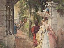 Carl Böker (1836-1905), 'A Walk in the Park', around 1890