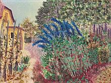 Paul Camenisch (1893-1970) Oil Painting, Flowering Garden, 1939