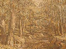 Isaak Izrailevich Brodsky, Oil Painting, Church in a Forest