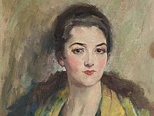 Edward Cucuel (1875-1954), Portrait of a Young Woman, 1930