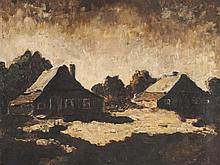 Fanny Churberg, Oil Painting, Moonlit Landscape, 1878