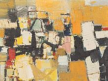 Oskar Koller (1925-2004), Painting, Abstraction, c. 1960