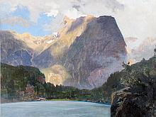 Gottfried Th. v. Kempf-Hartenkampf 'Pyburgersee im Ötztal' 1919