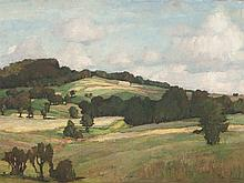 Richard Kaiser (1868-1941), Oil Painting, Wide Landscape, 1905