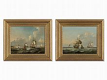Francis Swaine, Circle, Shipping Off Dover/Men O'War, c. 1780