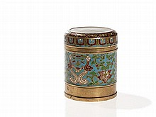 Box and Cover with an Archaic Cloisonné Decor, China, Qing