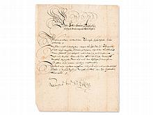 Official Letter from Duke August of Brunswick-Wolfenbüttel 1651