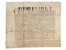 Document of King Edward III. from the Hundred Years War, 1356