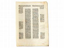 Pope Clement V - One of the First Prints on Vellum, 1471
