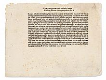 Announcement of Two Saxon Electors for a Campaign, 1485