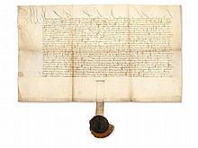 Vellum Document of the Archbishop of Mainz with Seal, 1491