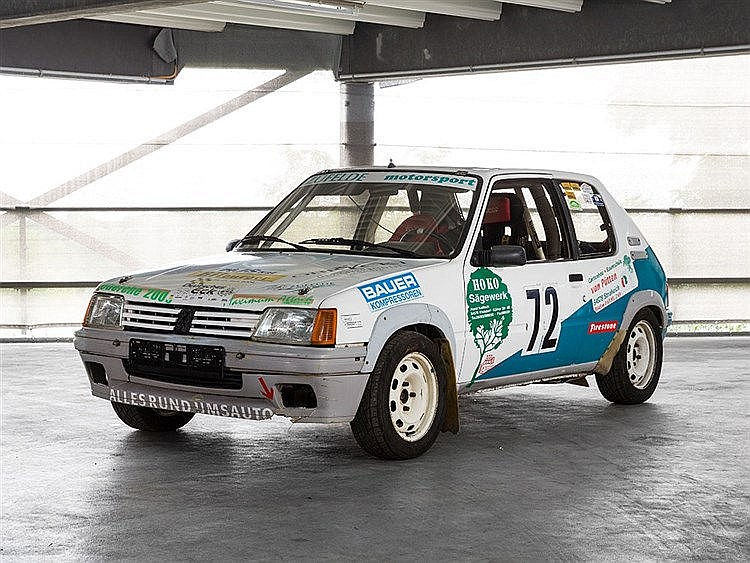 Peugeot 205 Rally Car, Model Year 1990
