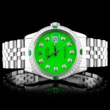 Rolex SS DateJust 1.00ctw Diamond Gents Wristwatch