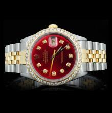 Rolex DateJust Men's 1.75ct Diamond Wristwatch