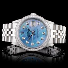 Rolex SS DateJust 1.00ctw Diamond Wristwatch