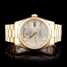 Rolex 18K Day-Date 118238 Diamond Wristwatch