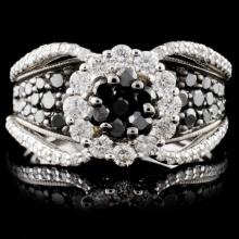 14K White Gold 2.94ctw Fancy Color Diamond Ring