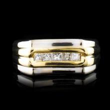 14K Gold 0.41ctw Diamond Ring