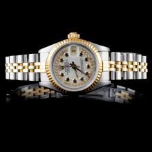 Rolex YG/SS DateJust Diamond Ladies Wristwatch
