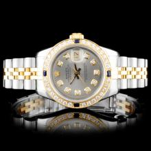 Rolex YG/SS DateJust Ladies Diamond Watch