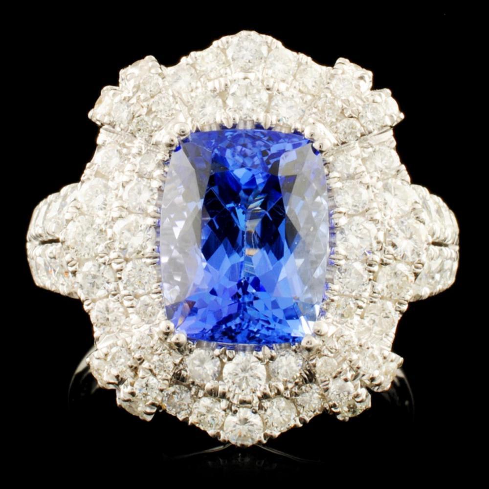 14K Gold 3.41ct Tanzanite & 1.54ctw Diamond Ring