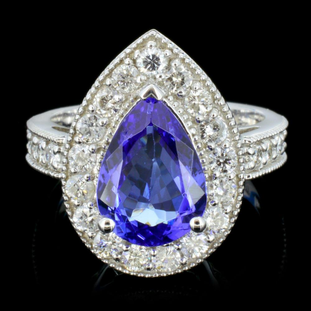 14K Gold 3.00ct Tanzanite & 1.00ctw Diamond Ring