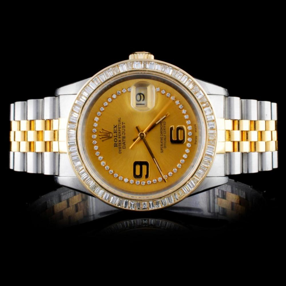 Rolex DateJust 3.50ct Diamond 36mm Watch