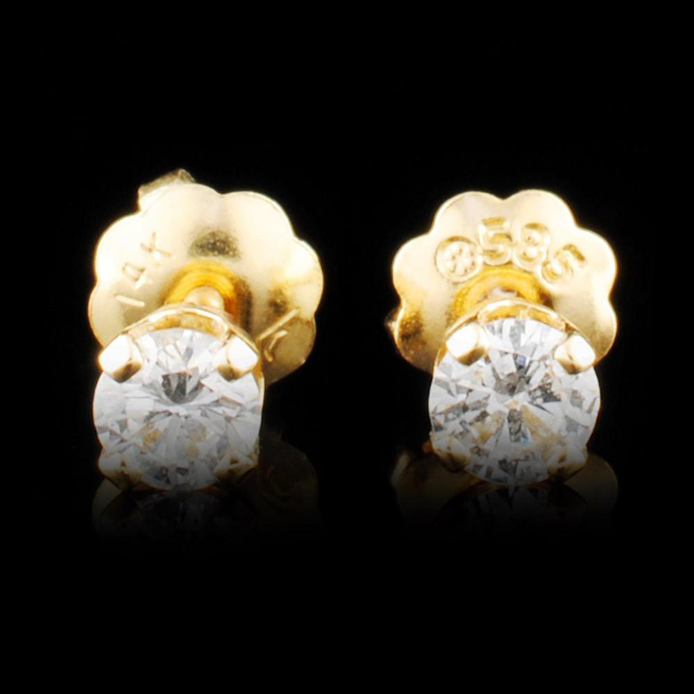 14K Gold 0.24ctw Diamond Earrings