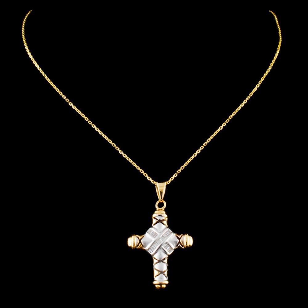14K Gold 0.27ctw Diamond Pendant