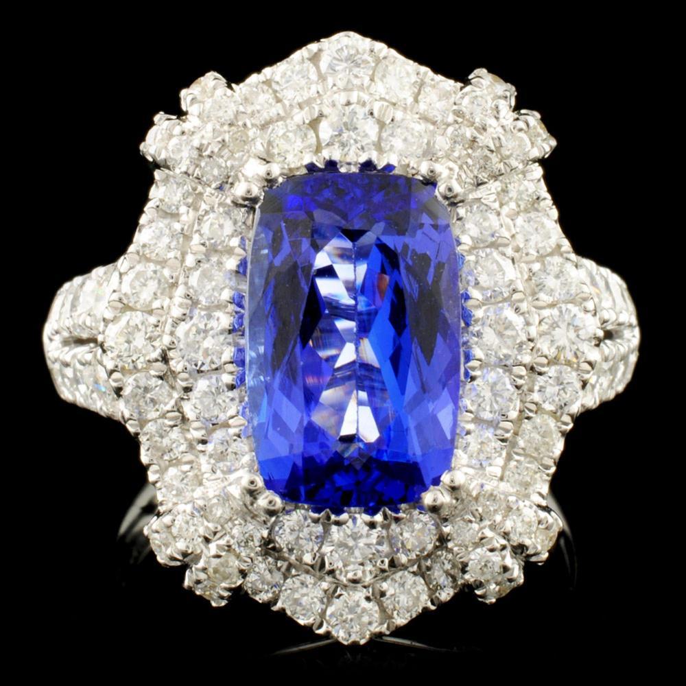 14K Gold 2.88ct Tanzanite & 1.49ctw Diamond Ring