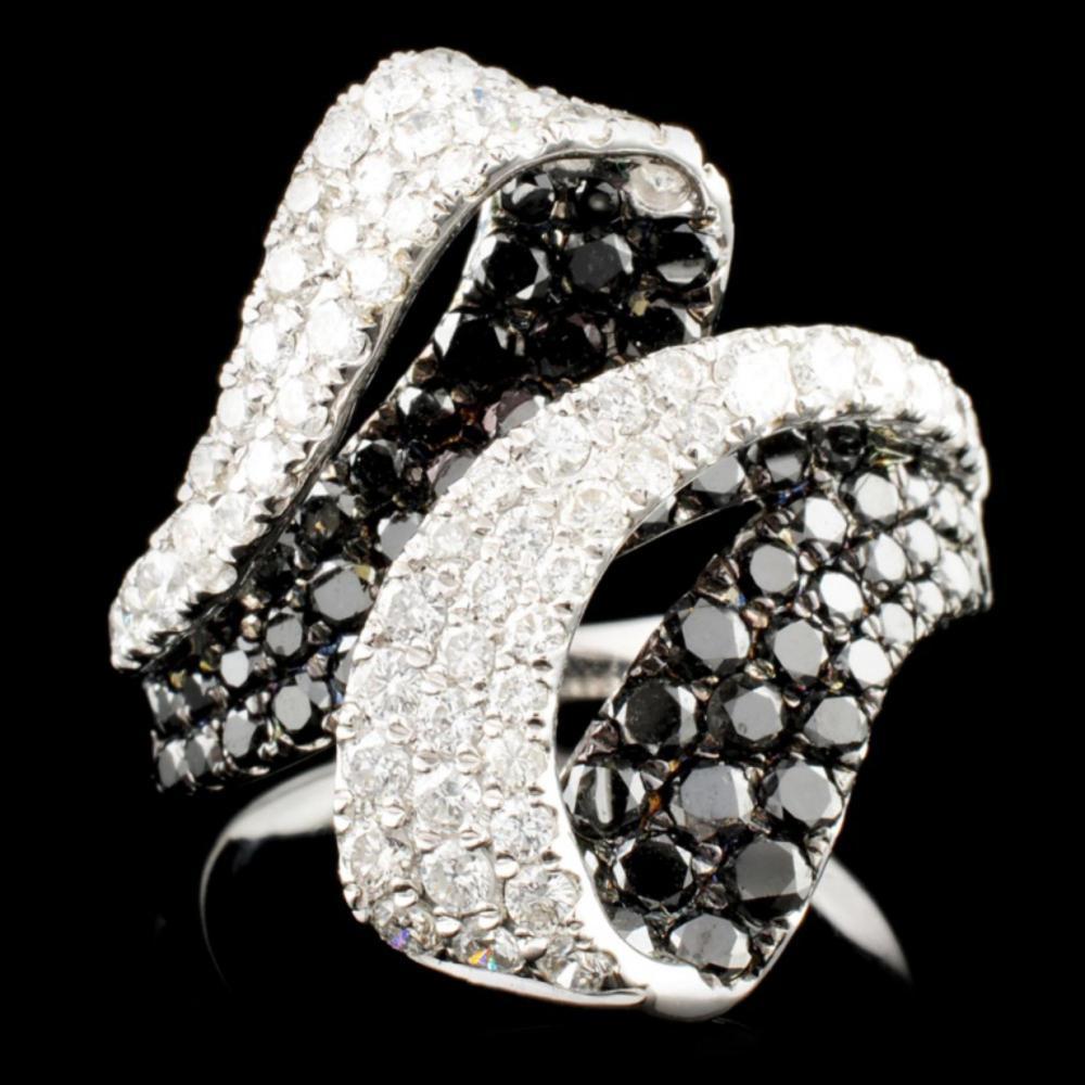 14K Gold 2.88ctw Fancy Color Diamond Ring