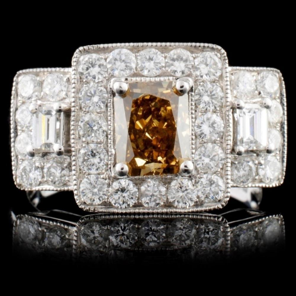 18K White Gold 2.06ctw Fancy Color Diamond Ring